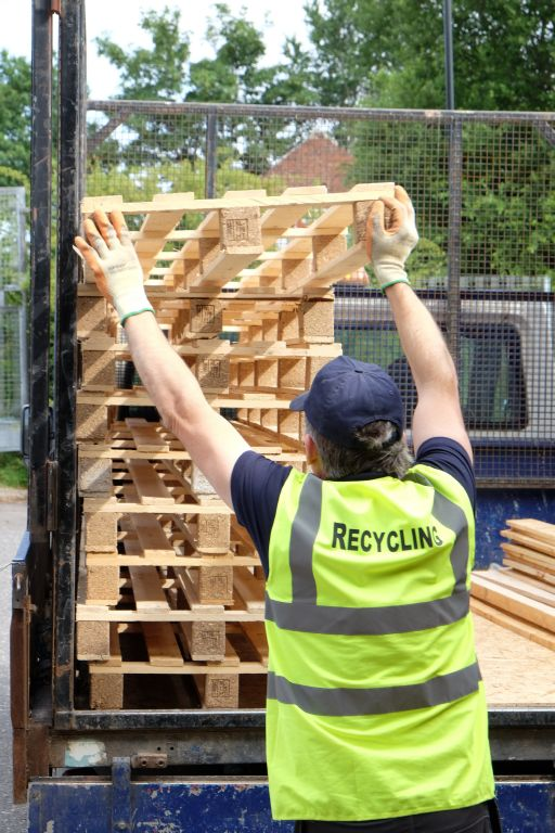 pallet recycling collection at Burton Street Sheffield South Yorkshire