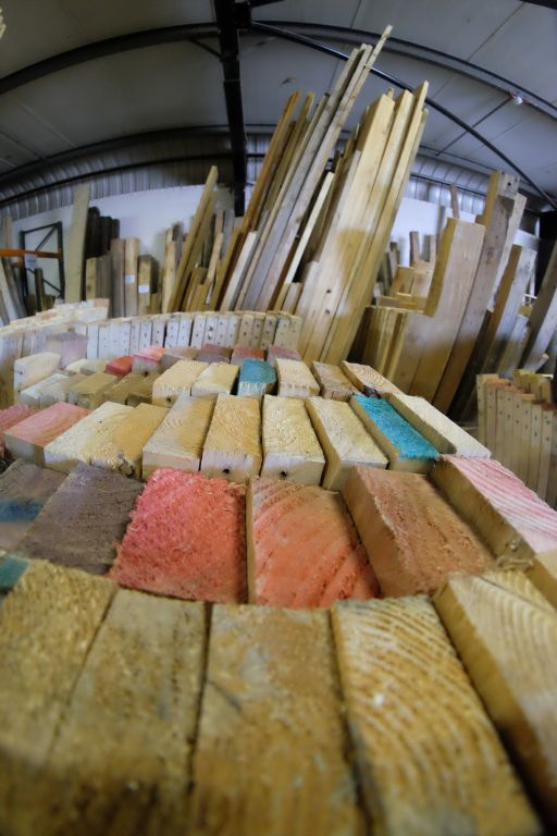 wood to sell at Burton Street timber recycling shop Sheffield