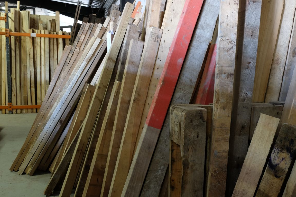 wood for sale at Green Estate timber recycling depot Sheffield