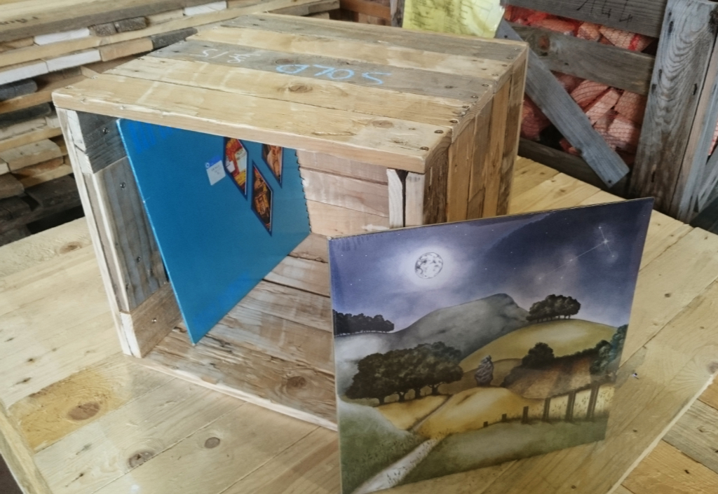 perfect rustic vinyl LP crate built with reclaimed timber from Green Estate timber recycling depot