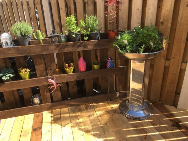 beautiful garden deck and fence built with reclaimed timber from Green Estate timber recycling shop